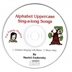 Fun Family Phonics - Book 1A CD ONLY (Alphabet Uppercase Sing-A-Long Songs)